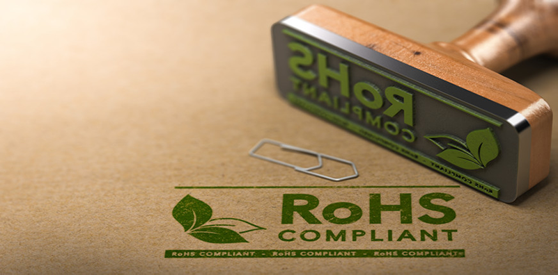 RoHS Compliant logo stamped in green